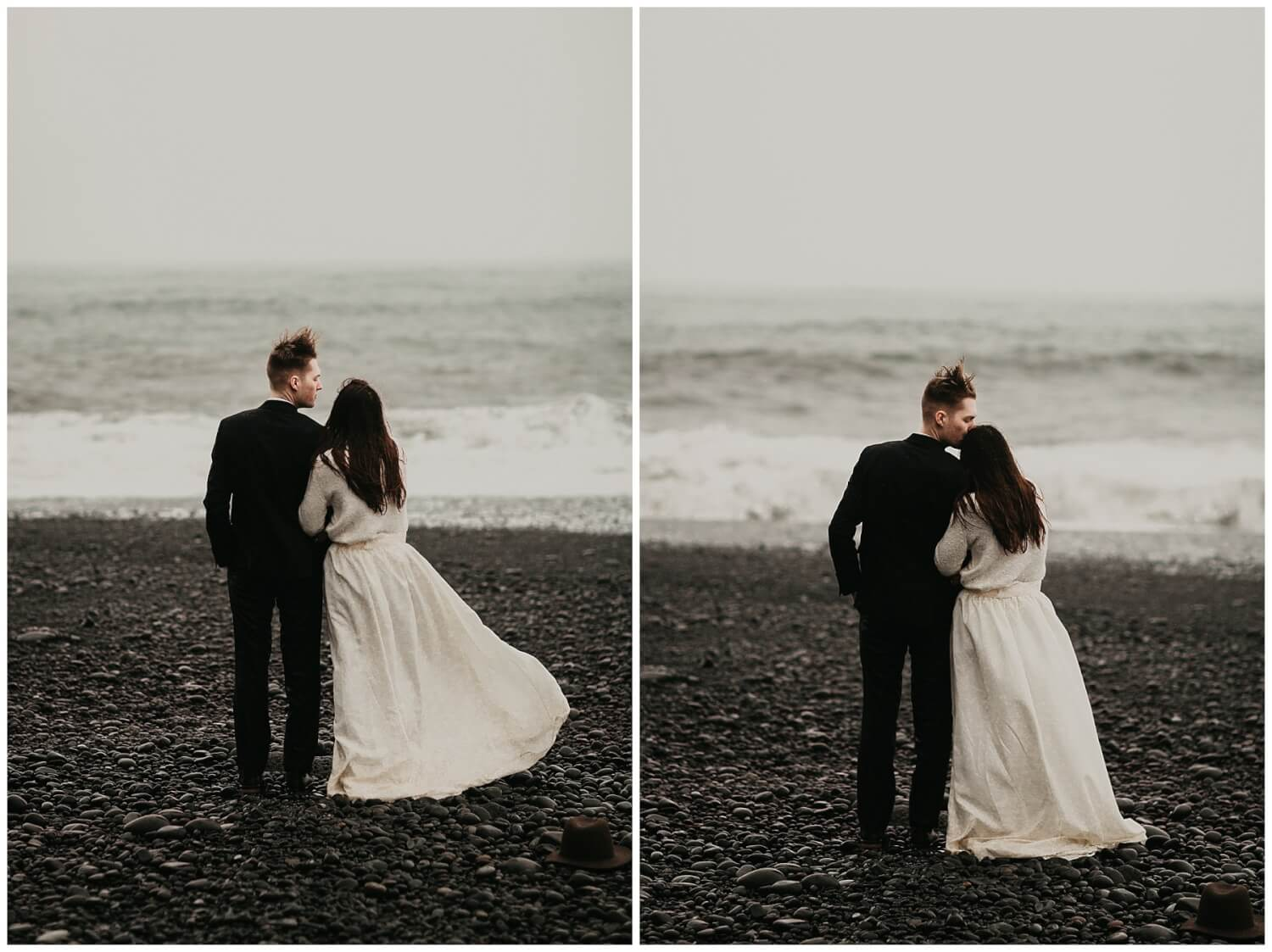 moody iceland wedding