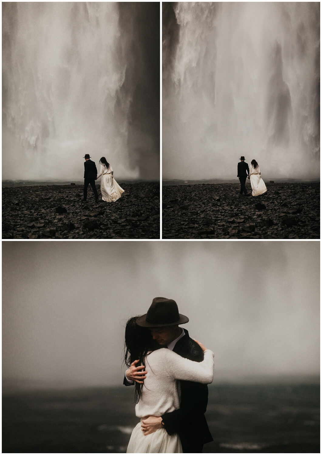 skogafoss wedding elopement photos