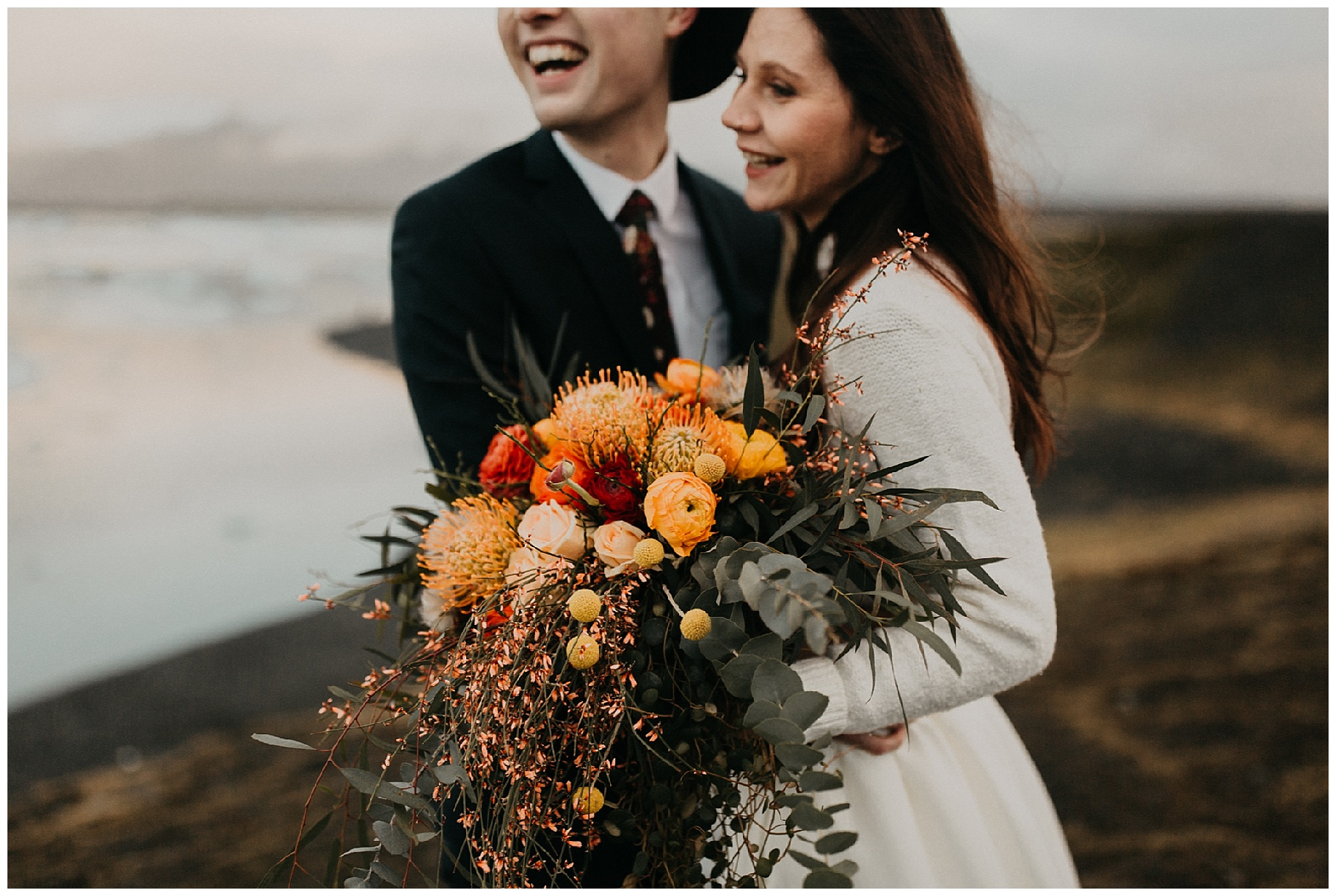 Glacier Lagoon Iceland Wedding Elopement