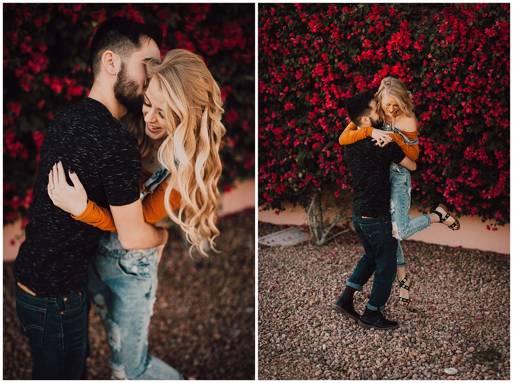 boho engagement Palm Springs