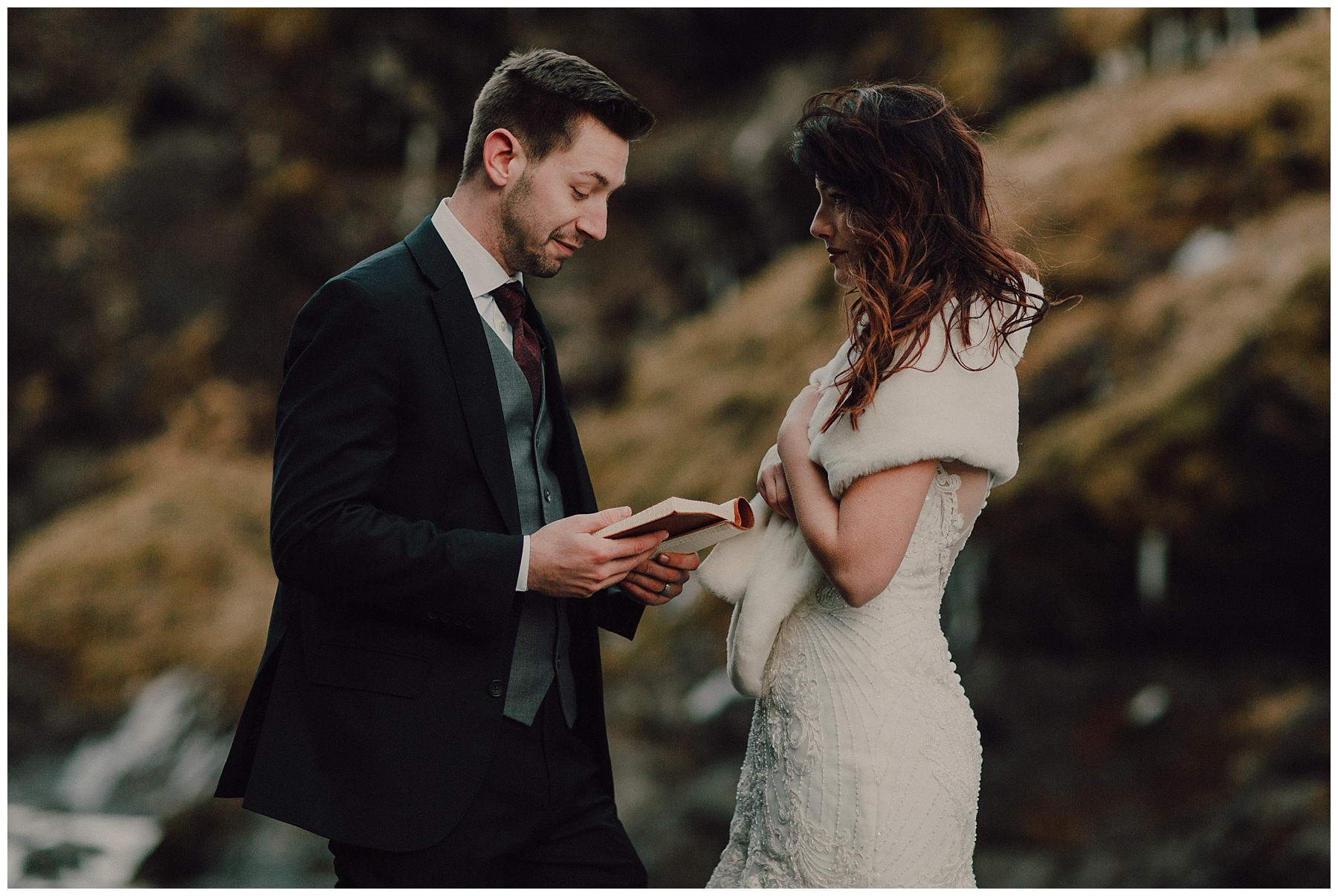 BLACK SAND BEACH ELOPEMENT